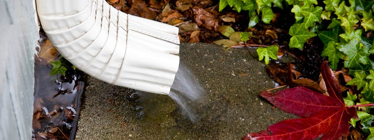 Downspouts protect your home.
