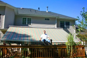 Retractable awnings from Eclipse are strong enough to sit on.