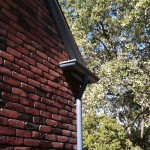"5"" Half Round Gutter with 4"" Round Downspout"